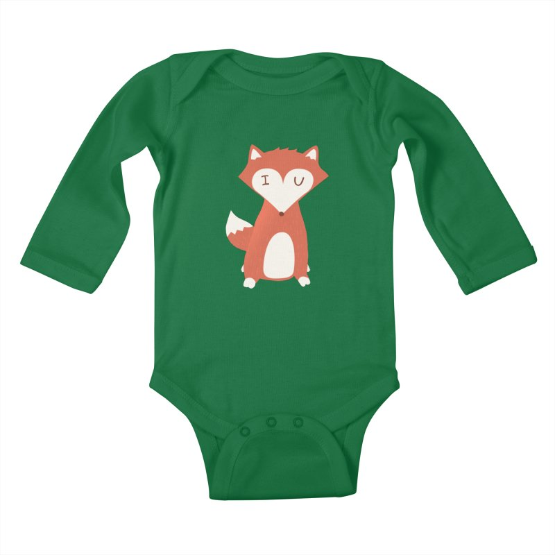 A Foxy Proposal Kids Baby Longsleeve Bodysuit by agrimony // Aaron Thong