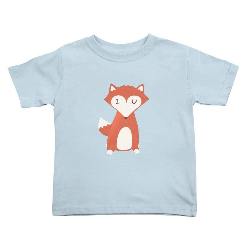 A Foxy Proposal Kids Toddler T-Shirt by agrimony // Aaron Thong