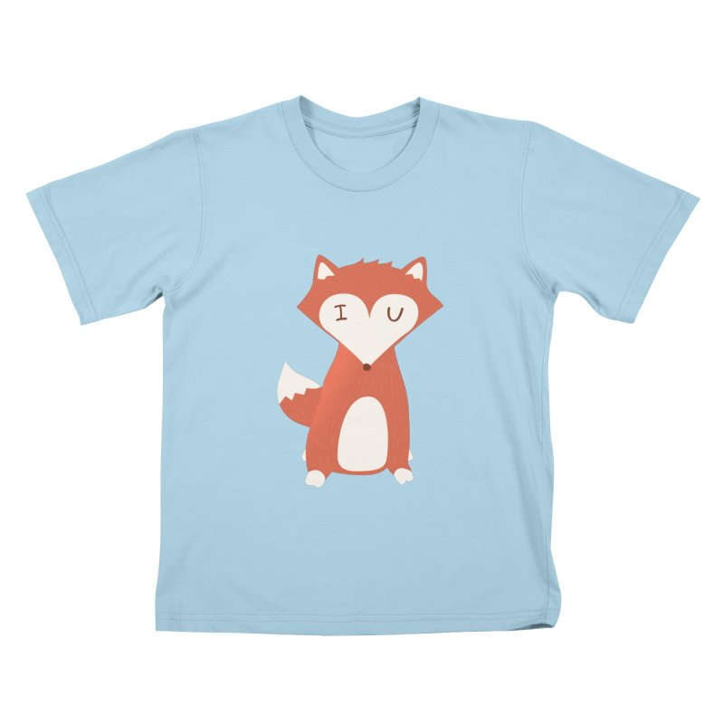 A Foxy Proposal Kids T-Shirt by agrimony // Aaron Thong