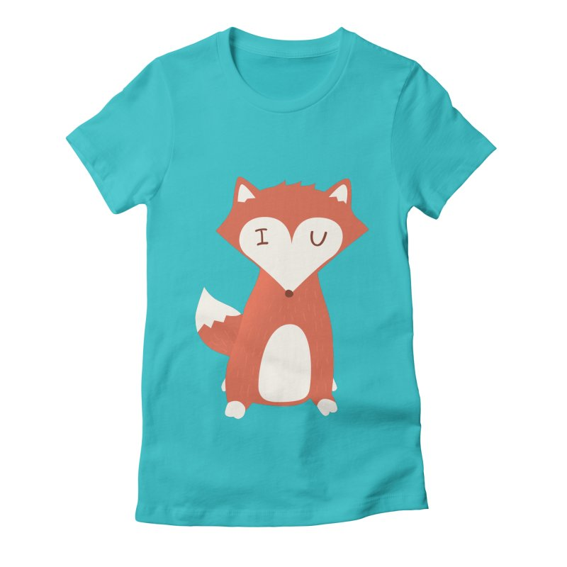 A Foxy Proposal Women's Fitted T-Shirt by agrimony // Aaron Thong
