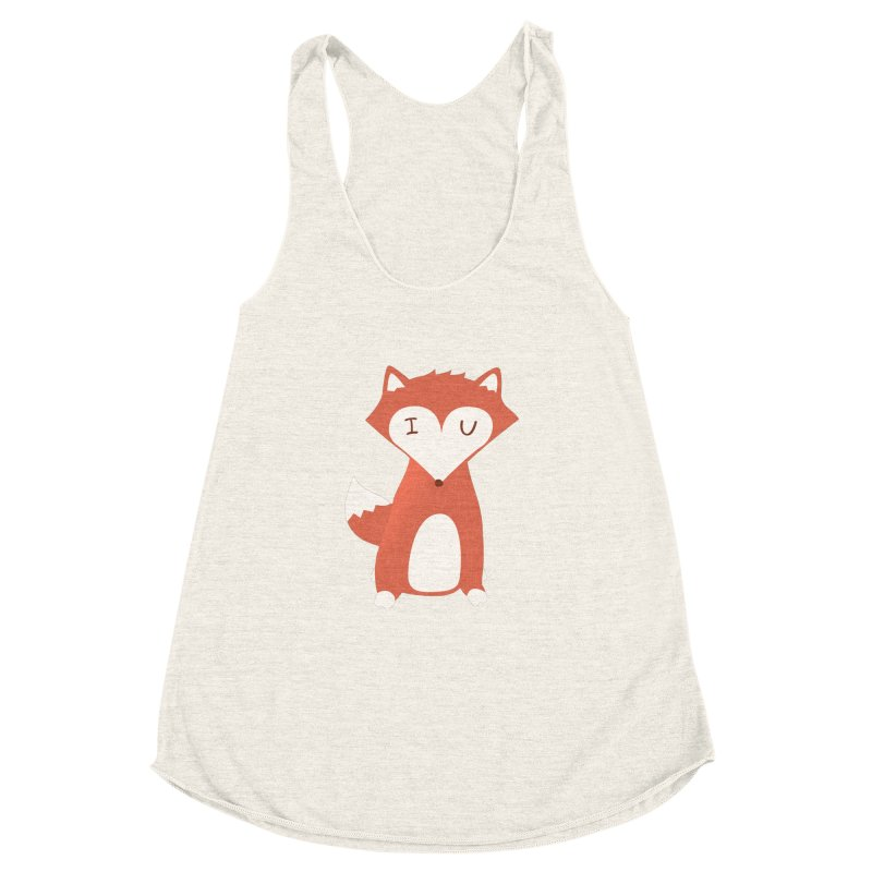 A Foxy Proposal Women's Racerback Triblend Tank by agrimony // Aaron Thong