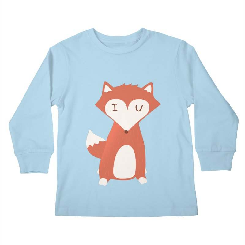 A Foxy Proposal Kids Longsleeve T-Shirt by agrimony // Aaron Thong