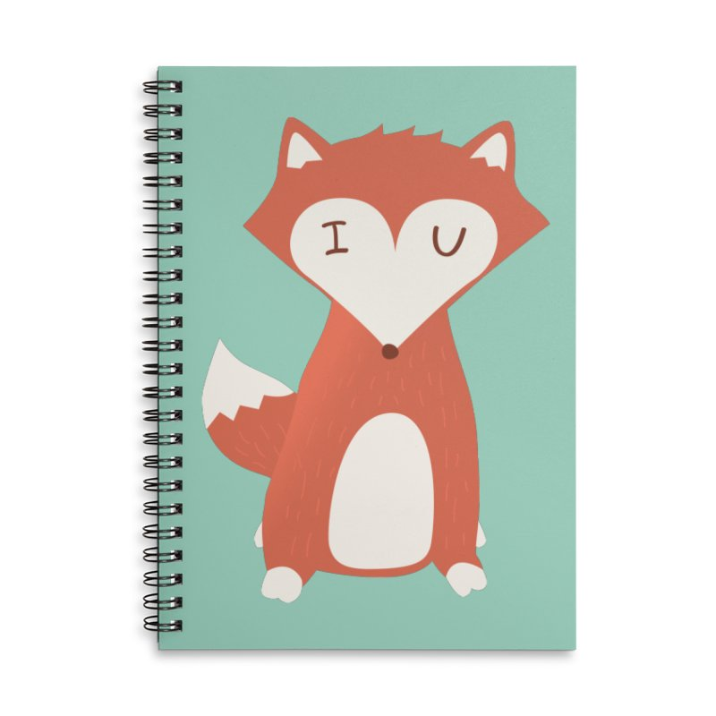 A Foxy Proposal Accessories Lined Spiral Notebook by agrimony // Aaron Thong