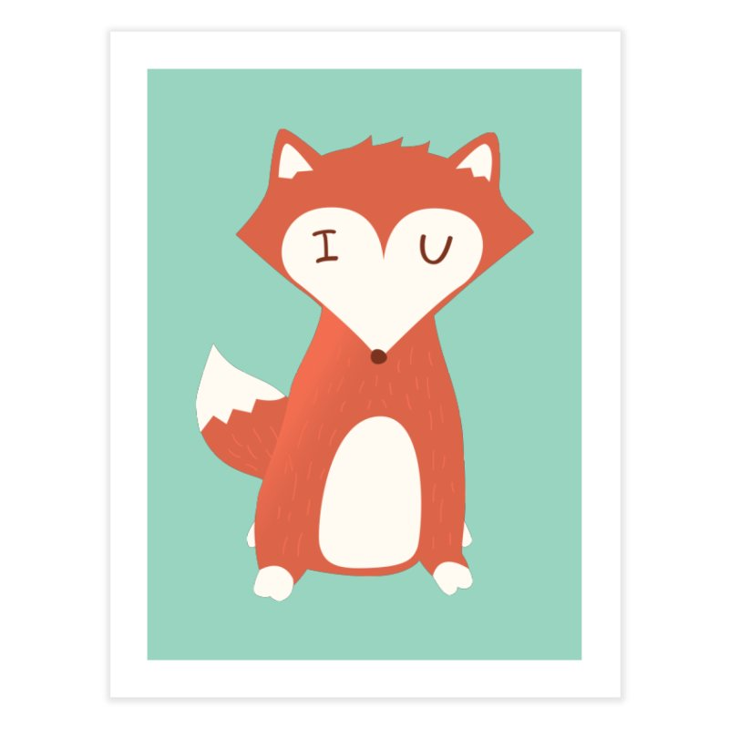 A Foxy Proposal Home Fine Art Print by agrimony // Aaron Thong