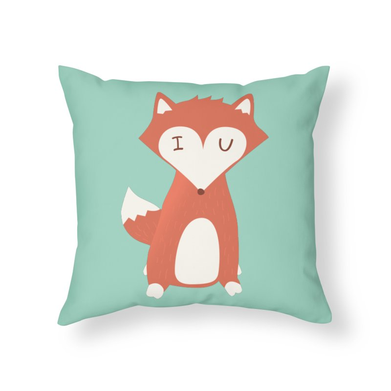 A Foxy Proposal Home Throw Pillow by agrimony // Aaron Thong