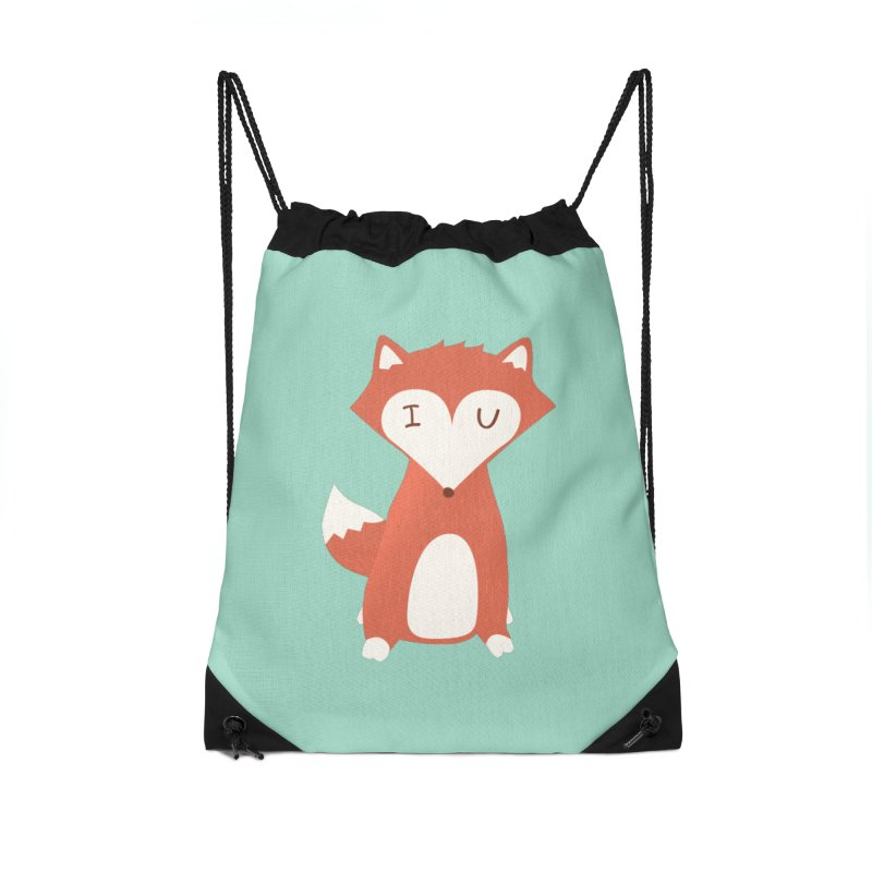 A Foxy Proposal Accessories Drawstring Bag Bag by agrimony // Aaron Thong