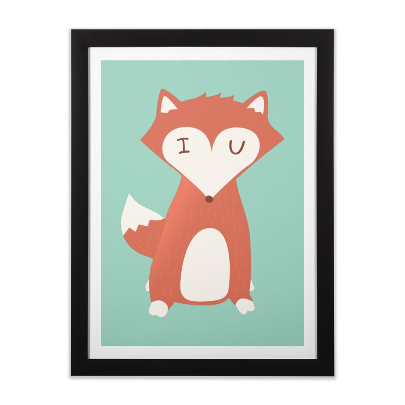 A Foxy Proposal Home Framed Fine Art Print by agrimony // Aaron Thong