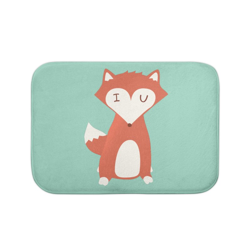 A Foxy Proposal Home Bath Mat by agrimony // Aaron Thong