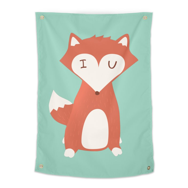 A Foxy Proposal Home Tapestry by agrimony // Aaron Thong