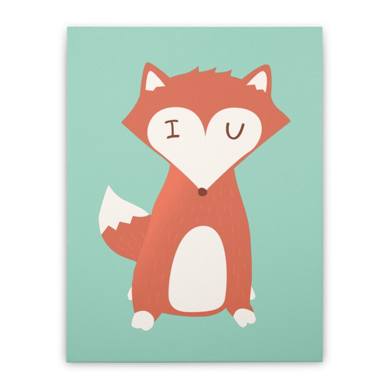 A Foxy Proposal Home Stretched Canvas by agrimony // Aaron Thong