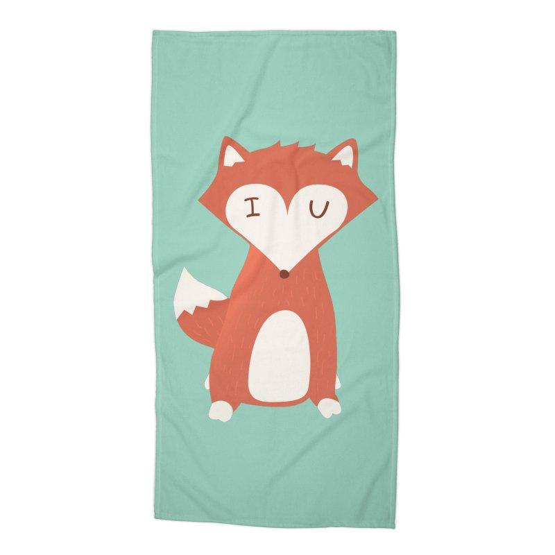 A Foxy Proposal Accessories Beach Towel by agrimony // Aaron Thong