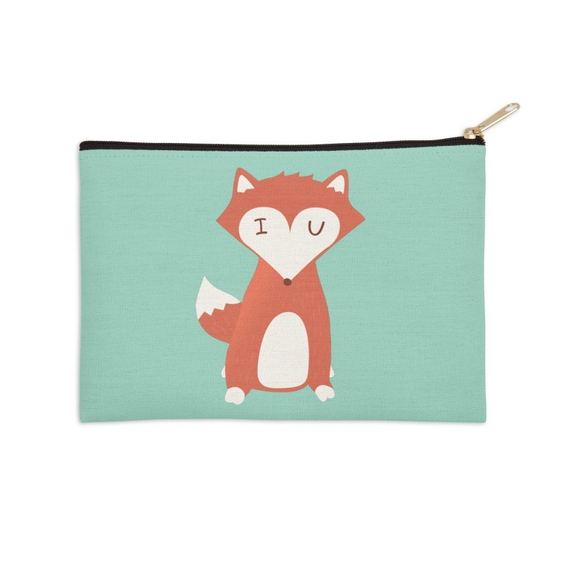 A Foxy Proposal Accessories Zip Pouch by agrimony // Aaron Thong