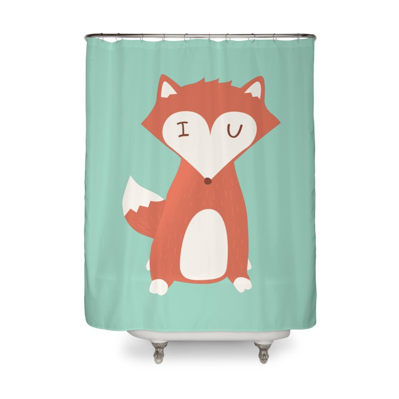 A Foxy Proposal Home Shower Curtain by agrimony // Aaron Thong