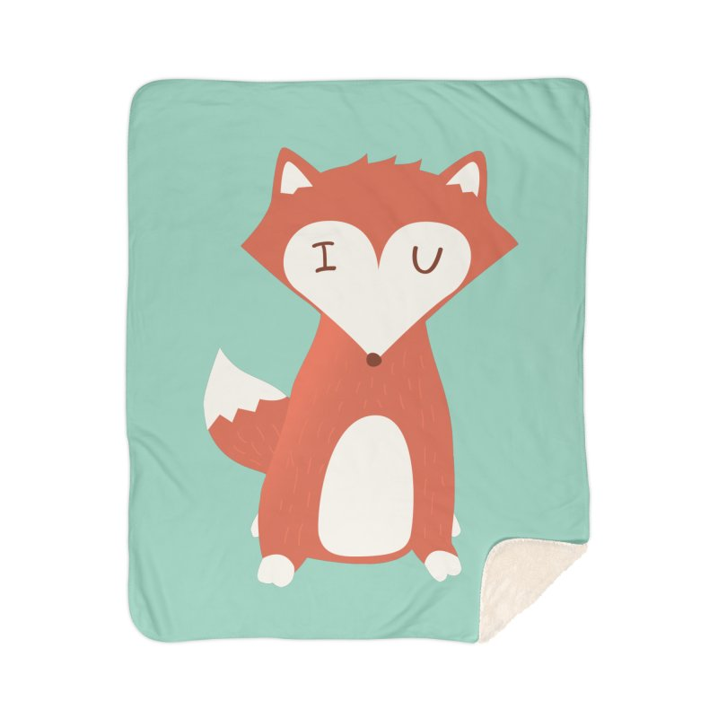 A Foxy Proposal Home Sherpa Blanket Blanket by agrimony // Aaron Thong