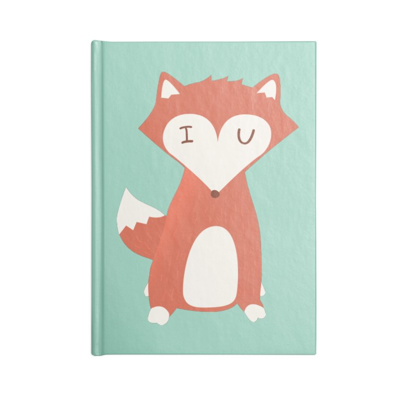 A Foxy Proposal Accessories Lined Journal Notebook by agrimony // Aaron Thong