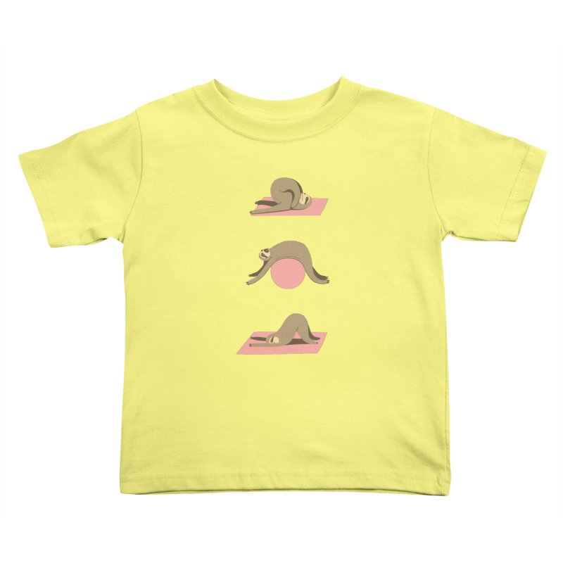 Sloth Pilates Kids Toddler T-Shirt by agrimony // Aaron Thong