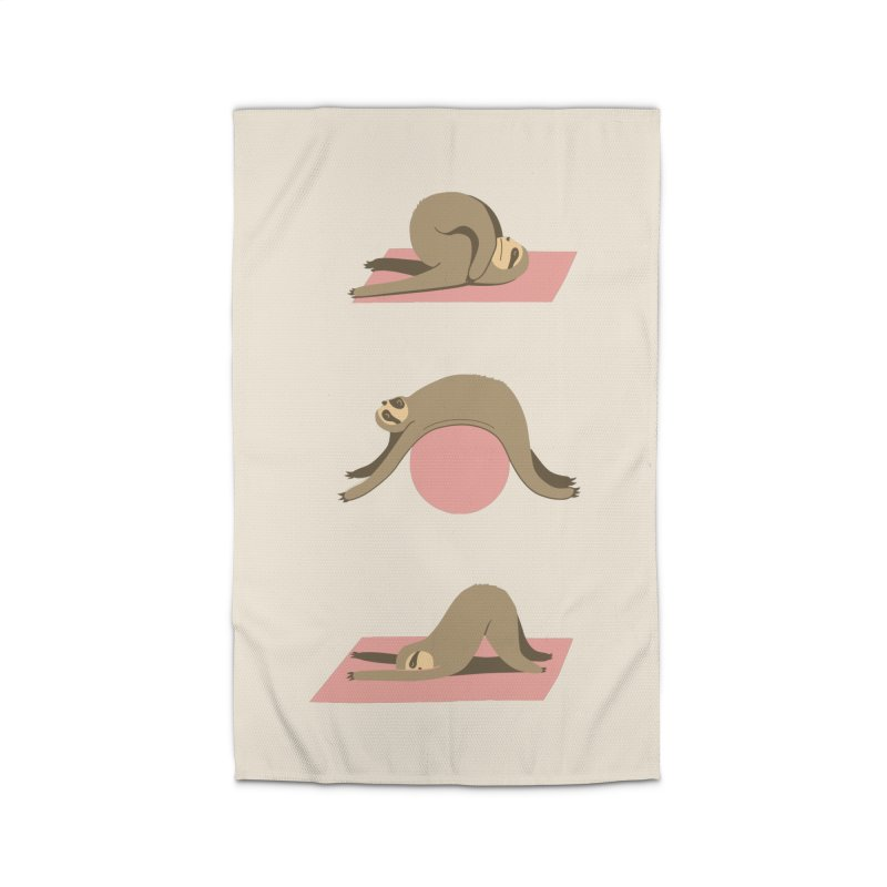 Sloth Pilates Home Rug by agrimony // Aaron Thong
