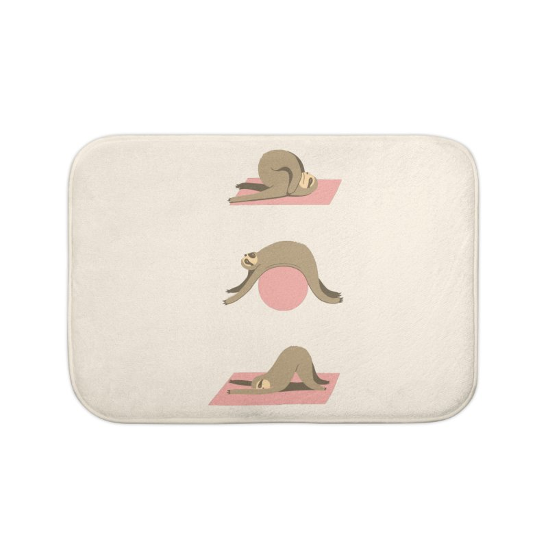 Sloth Pilates Home Bath Mat by agrimony // Aaron Thong