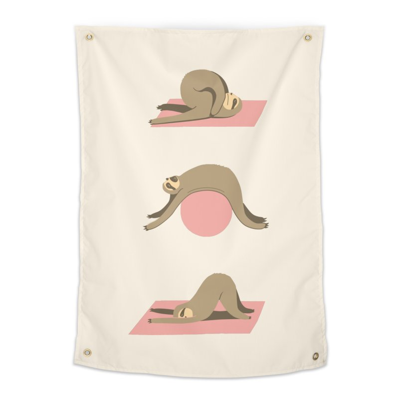 Sloth Pilates Home Tapestry by agrimony // Aaron Thong