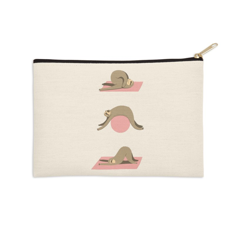 Sloth Pilates Accessories Zip Pouch by agrimony // Aaron Thong