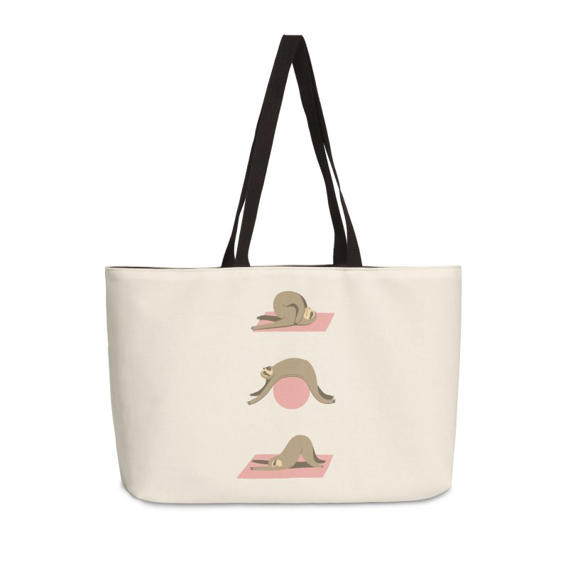 Sloth Pilates Accessories Weekender Bag Bag by agrimony // Aaron Thong