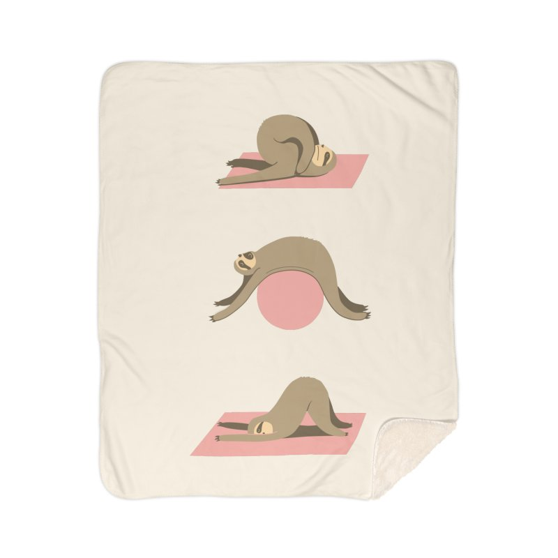 Sloth Pilates Home Sherpa Blanket Blanket by agrimony // Aaron Thong