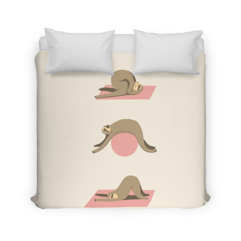 Sloth Pilates Home Duvet by agrimony // Aaron Thong