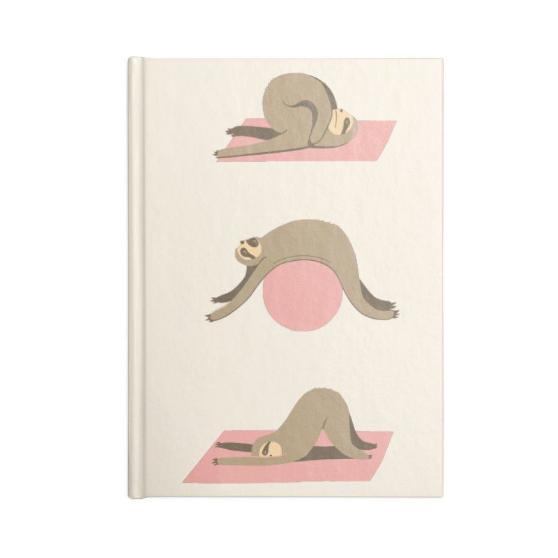 Sloth Pilates Accessories Lined Journal Notebook by agrimony // Aaron Thong