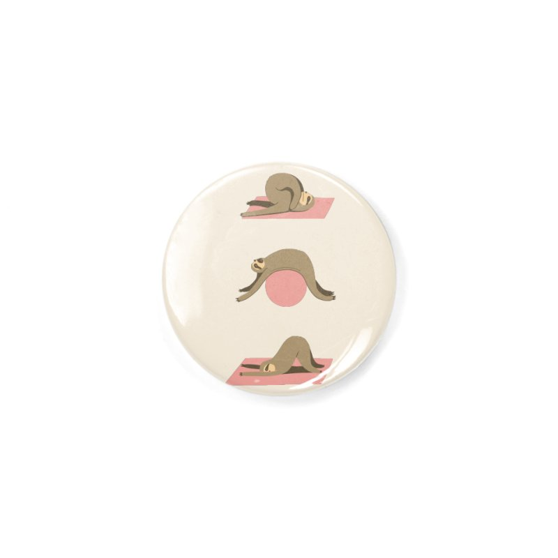 Sloth Pilates Accessories Button by agrimony // Aaron Thong