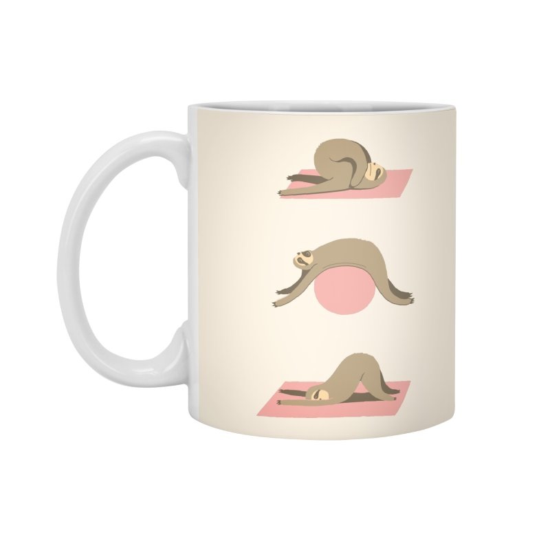 Sloth Pilates Accessories Standard Mug by agrimony // Aaron Thong