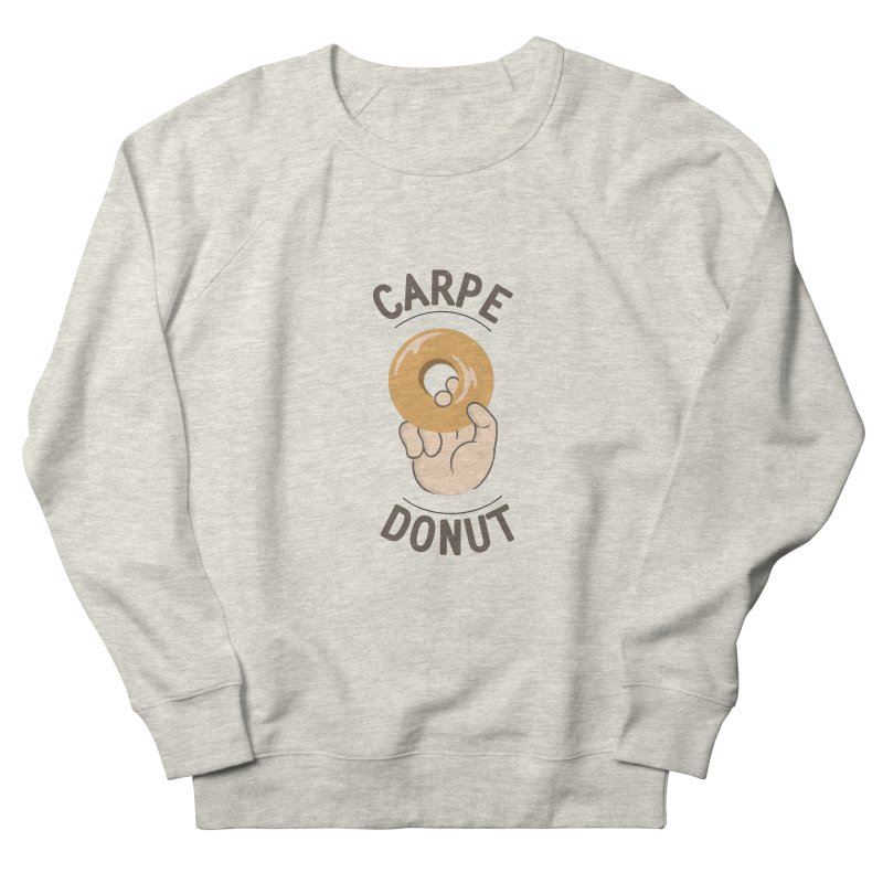 Carpe Donut Men's French Terry Sweatshirt by agrimony // Aaron Thong