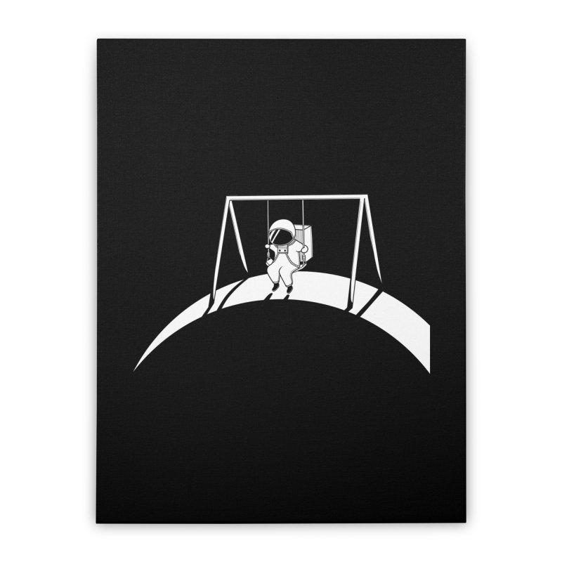 In Space No One will Push Your Swing Home Stretched Canvas by agrimony // Aaron Thong