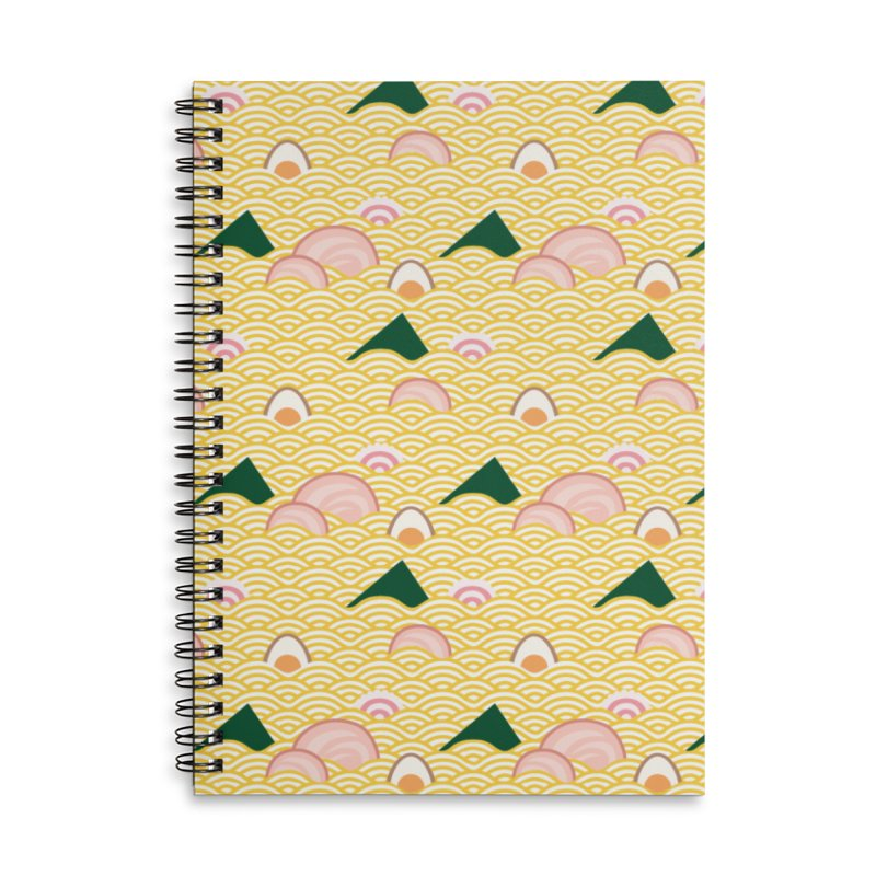 Ramen! Accessories Lined Spiral Notebook by agrimony // Aaron Thong