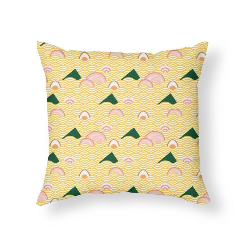 Ramen! Home Throw Pillow by agrimony // Aaron Thong