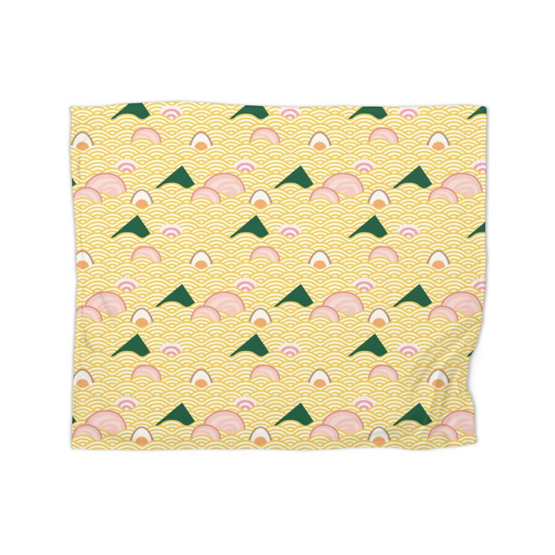Ramen! Home Fleece Blanket Blanket by agrimony // Aaron Thong