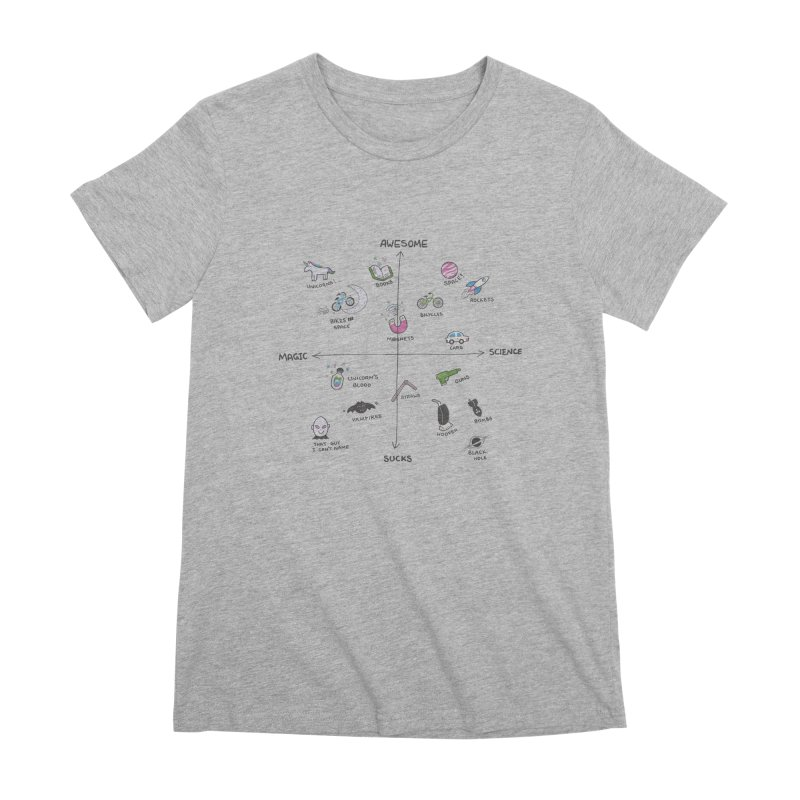 Science vs Magic Women's Premium T-Shirt by agrimony // Aaron Thong
