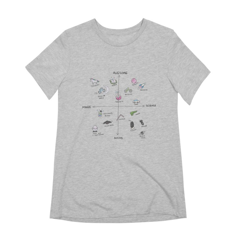 Science vs Magic Women's Extra Soft T-Shirt by agrimony // Aaron Thong