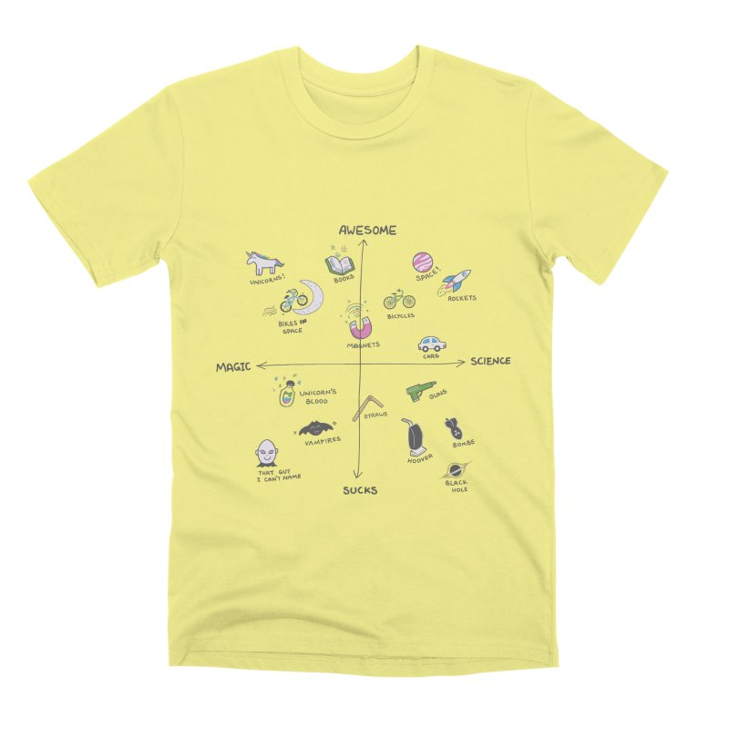 Science vs Magic Men's Premium T-Shirt by agrimony // Aaron Thong