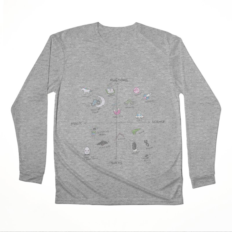 Science vs Magic Men's Performance Longsleeve T-Shirt by agrimony // Aaron Thong