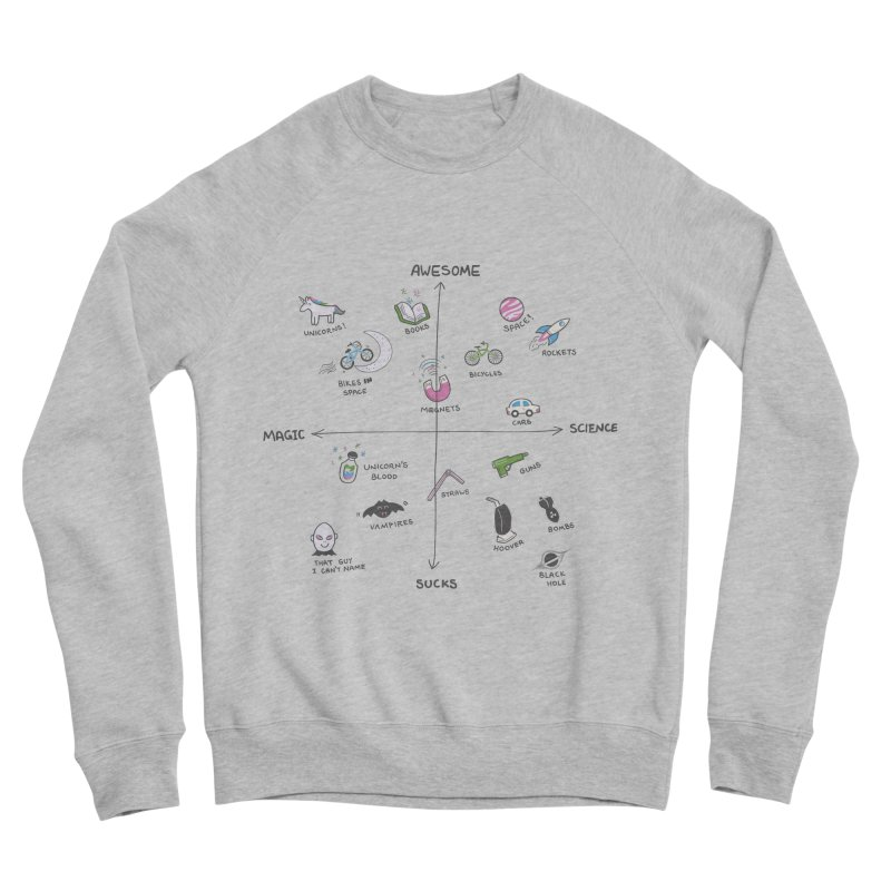 Science vs Magic Men's Sponge Fleece Sweatshirt by agrimony // Aaron Thong