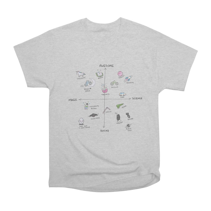 Science vs Magic Men's Heavyweight T-Shirt by agrimony // Aaron Thong