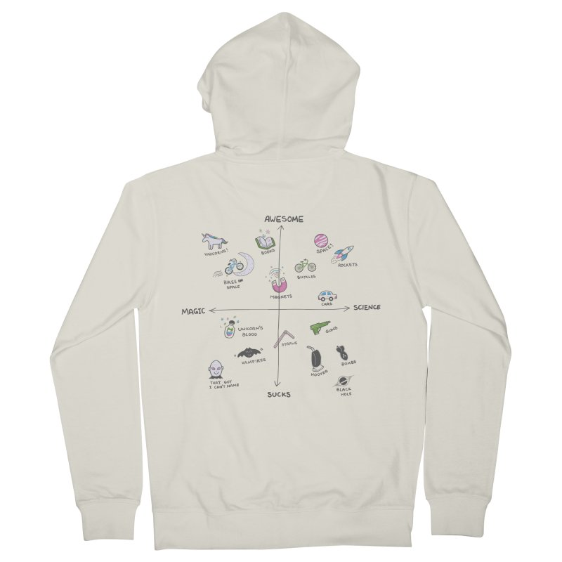 Science vs Magic Men's Zip-Up Hoody by agrimony // Aaron Thong