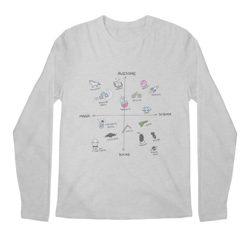 Science vs Magic Men's Longsleeve T-Shirt by agrimony // Aaron Thong