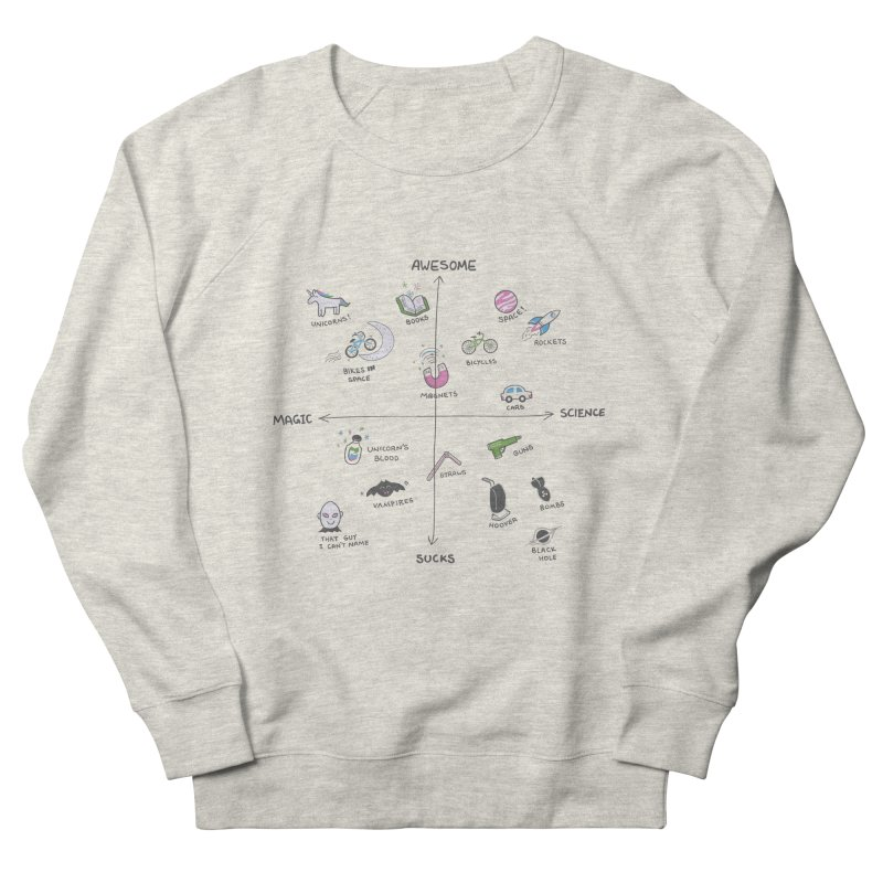 Science vs Magic Men's French Terry Sweatshirt by agrimony // Aaron Thong
