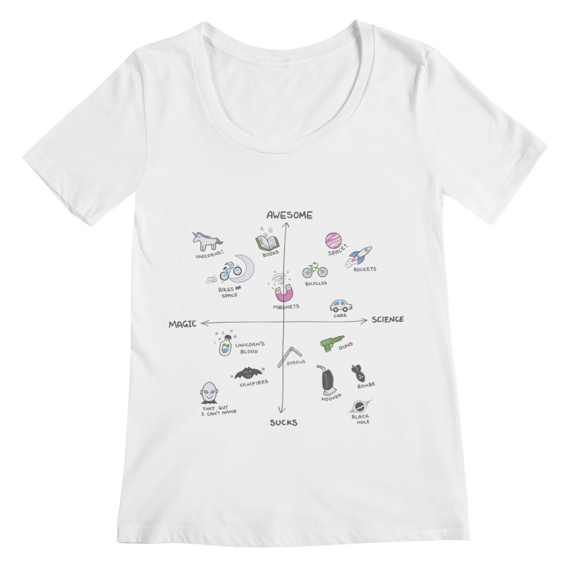 Science vs Magic Women's Regular Scoop Neck by agrimony // Aaron Thong