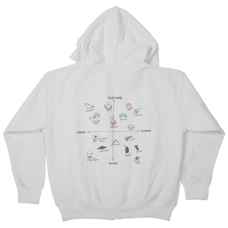 Science vs Magic Kids Zip-Up Hoody by agrimony // Aaron Thong