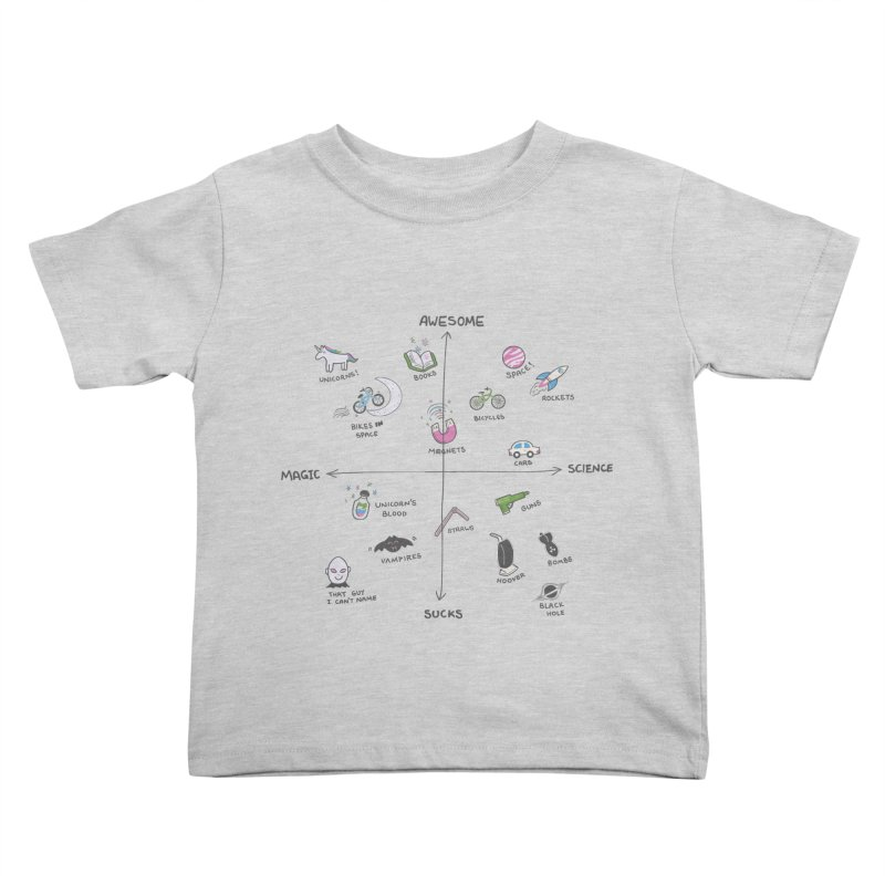 Science vs Magic Kids Toddler T-Shirt by agrimony // Aaron Thong