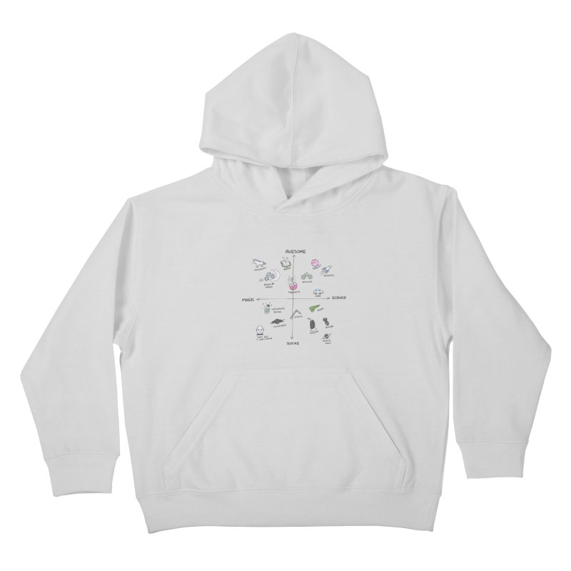Science vs Magic Kids Pullover Hoody by agrimony // Aaron Thong