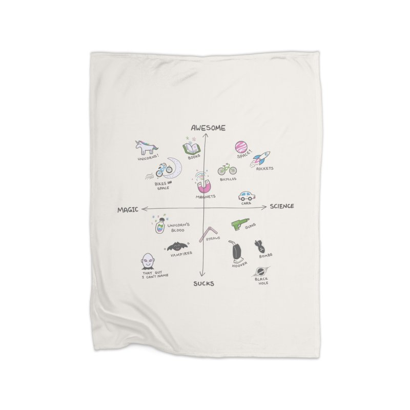 Science vs Magic Home Blanket by agrimony // Aaron Thong