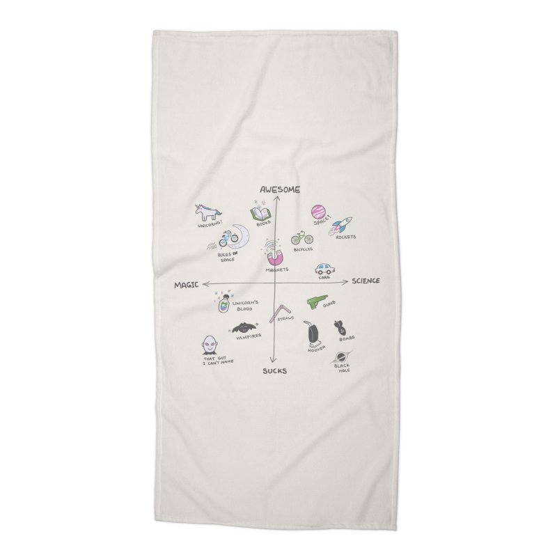 Science vs Magic Accessories Beach Towel by agrimony // Aaron Thong